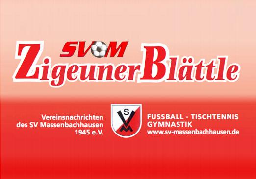 SVM Zigeunerblättle zum Spiel gegen die SF Lauffen ist online!