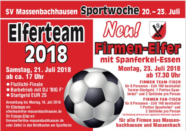 SVM Sportwoche – 11. ELFERTEAM sowie 1. FIRMEN-ELFER