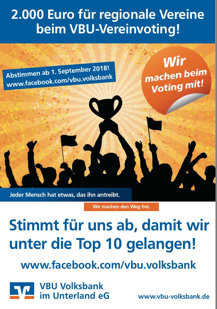Unterstützt unser Team beim VBU Vereinsvoting